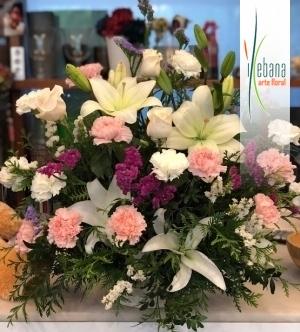 Centro flores frescas funeral