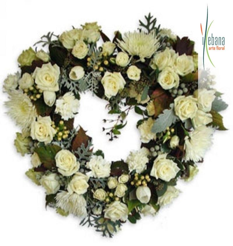Corazon de flor variada