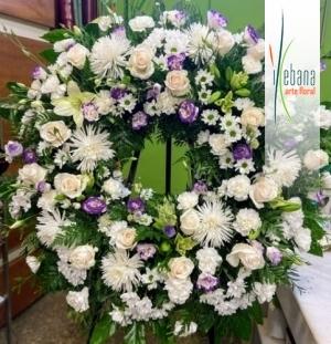 Corona de dos cabezales funeral