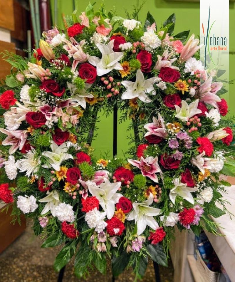 Corona de flor funeraria