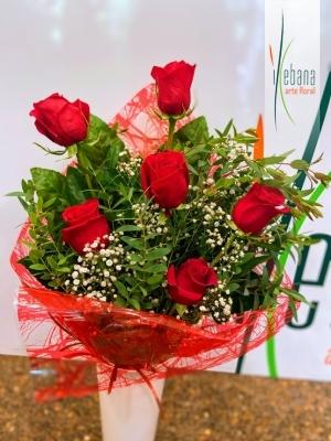 Ramo de  6 rosas funeral
